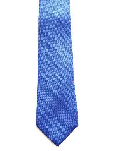 Cravata uni texturata; latime 7 cm
