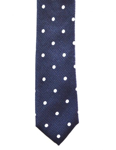 Cravata bleumarin buline; latime 7 cm