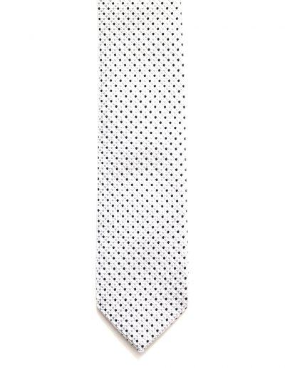 Cravata slim insertie argintie; latime 5 cm