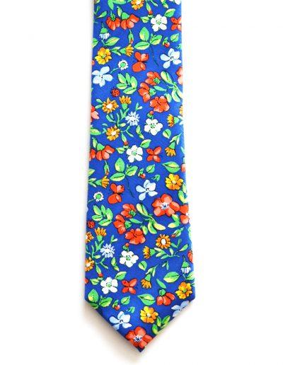 Cravata matase colorata; latime 6 cm