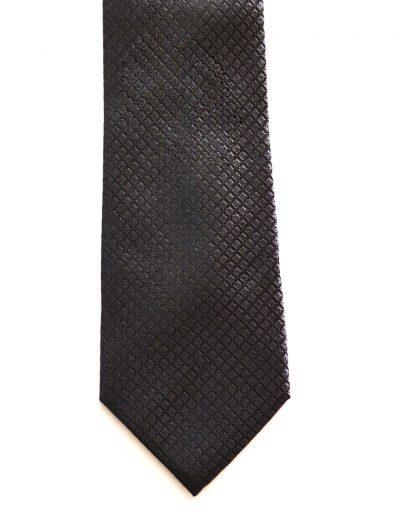 Cravata texturata maro; latime 8 cm