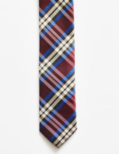 Cravata carouri extra slim; latime 5 cm