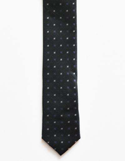 Cravata extra slim cu print; latime 5 cm
