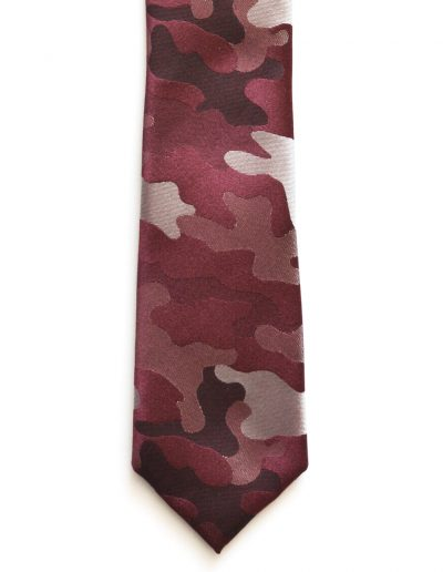 Cravata print army grena; latime 6 cm