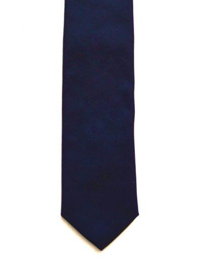 Cravata bumbac bleumarin; latime 7 cm