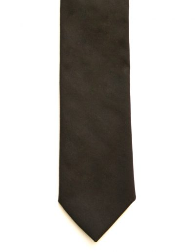 Cravata bumbac maro; latime 7 cm